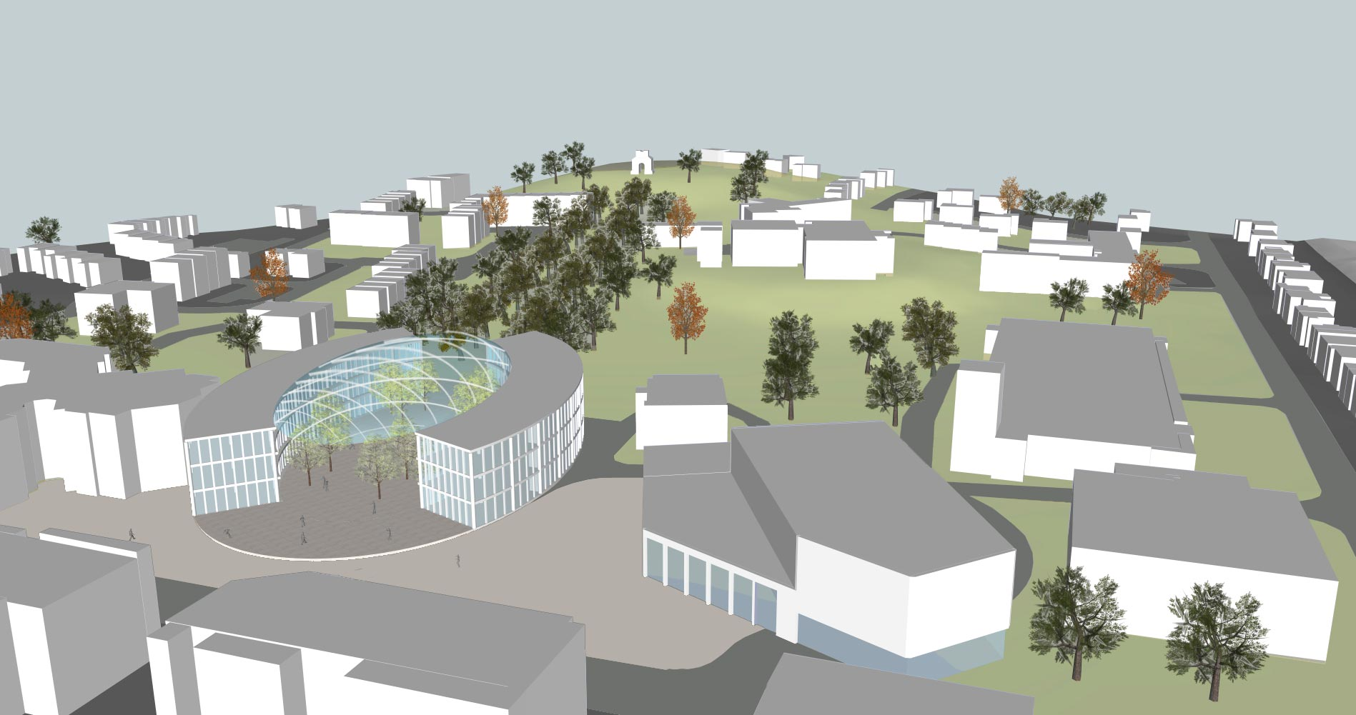 Camberley Cultural Quarter Masterplan - Top view