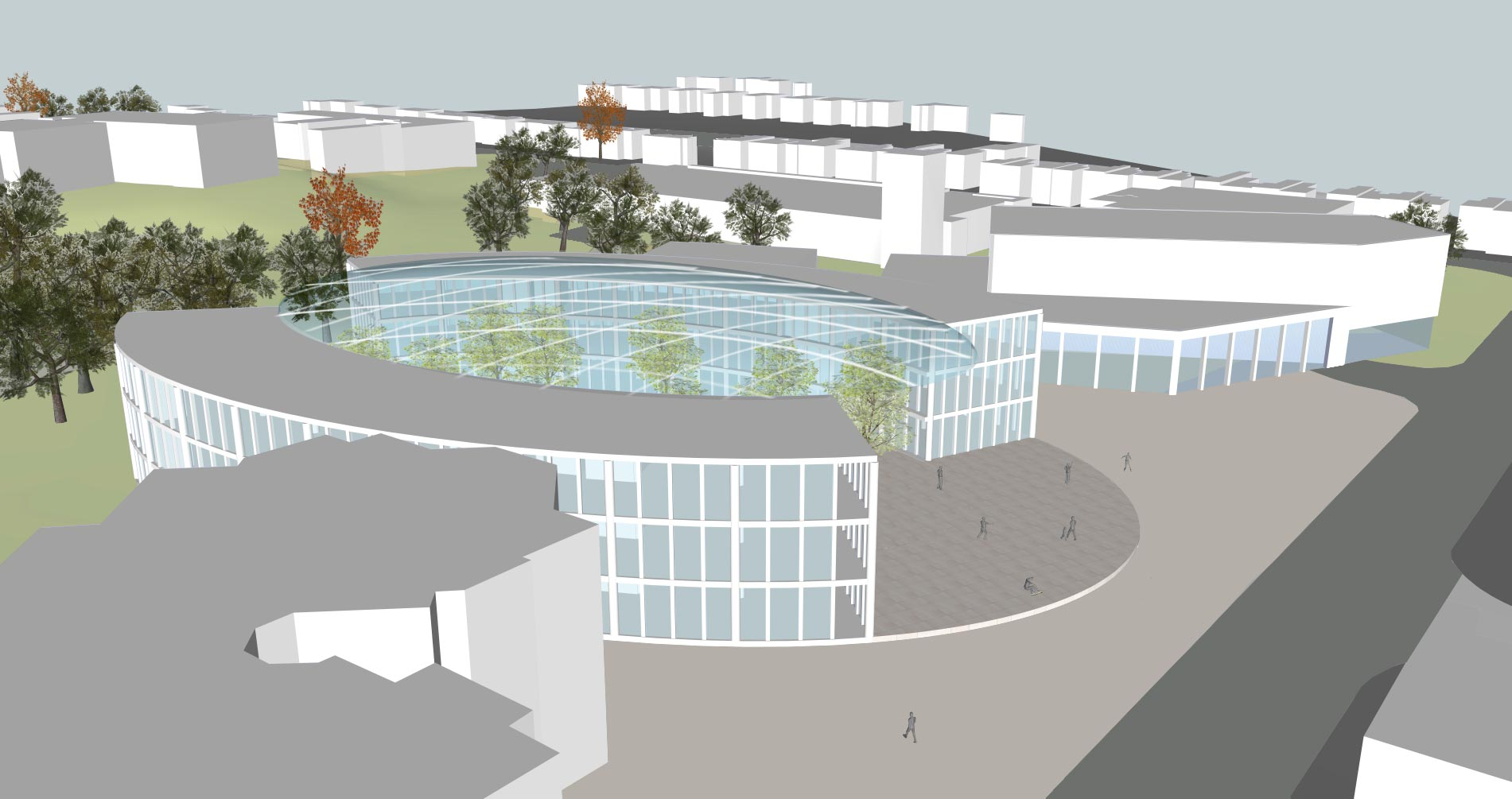 Camberley Cultural Quarter Masterplan - Side view