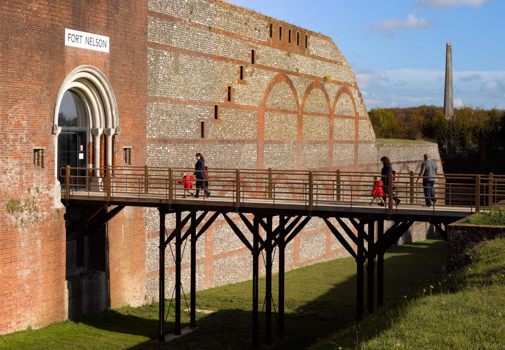 Fort Nelson, Portsmouth, Hampshire - Main entrance bridge