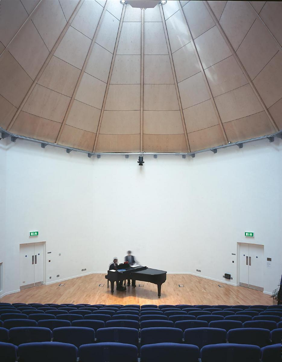 Shrewsbury School Music School - Auditorium interior