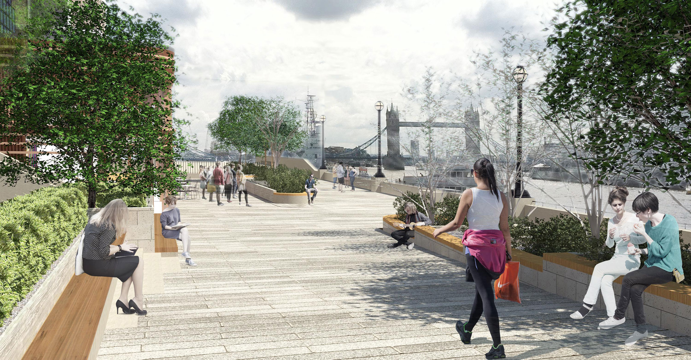 10-Lower-Thames-Street City of  London- The-new-landscaped-area