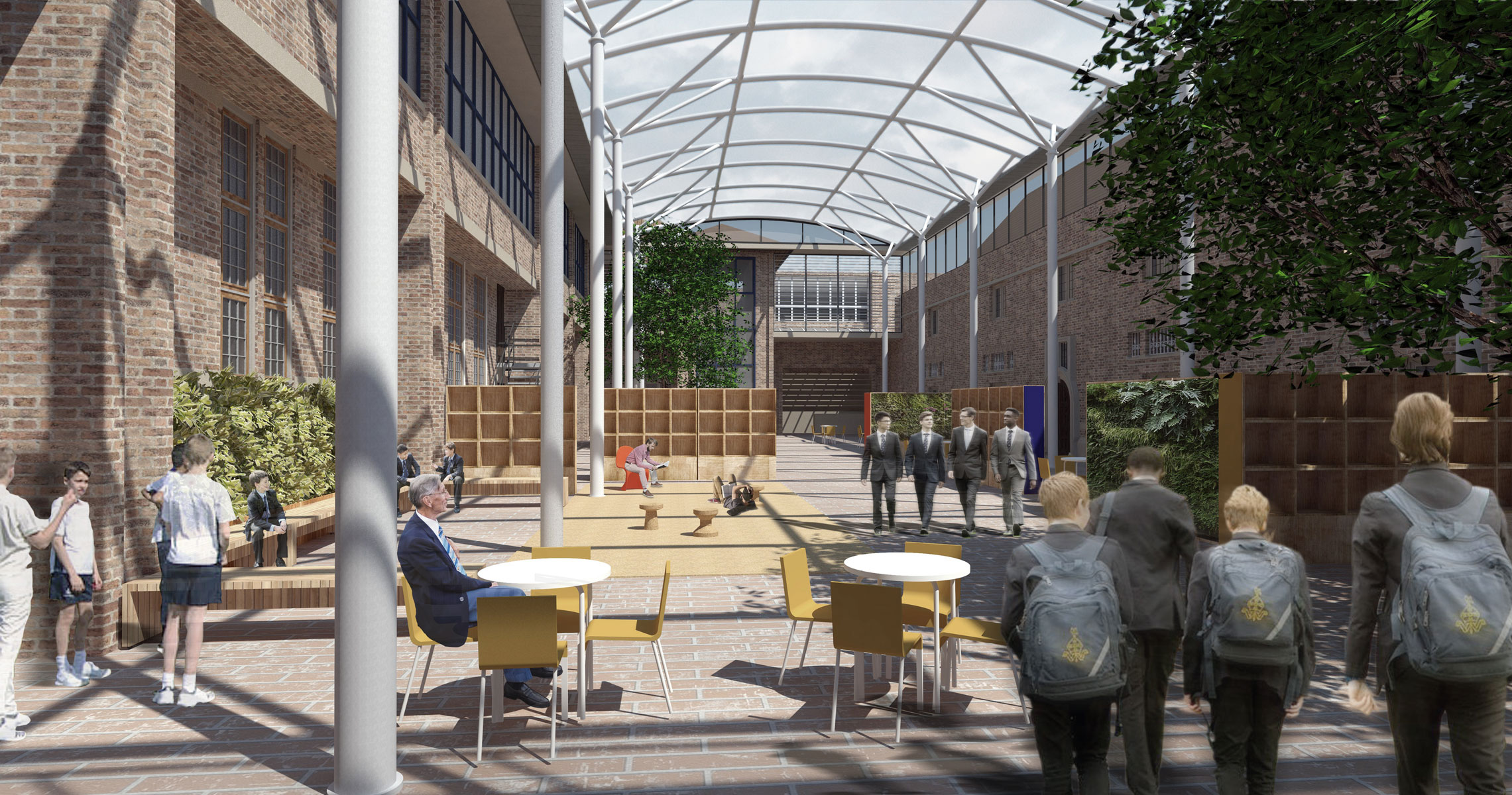 Whitgift School Masterplan  Centre Quad view