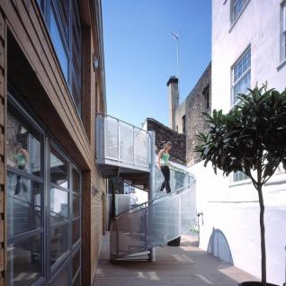 Carlisle Lane Flats, London - Sustainable apartments in cross-laminated timber construction – shared courtyard