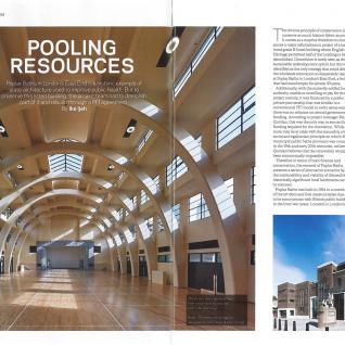 Review of Poplar Baths in  Building Magazine
