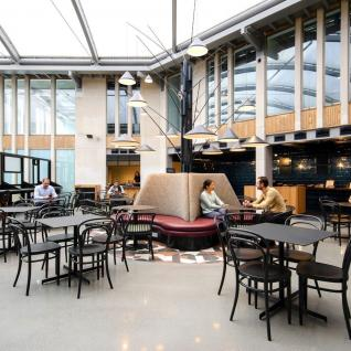 Edinburgh House Kennington London Shared Workspace  Atrium Cafe