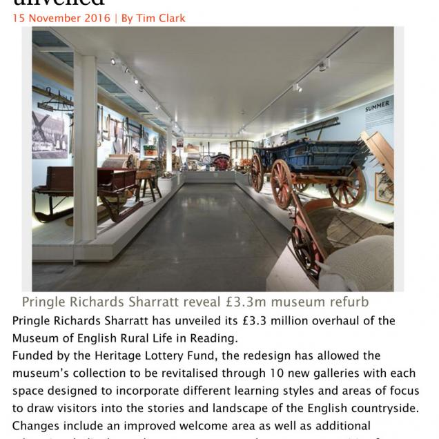 Museum of English Rural Life - Building Design Nov 2016